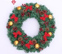 Lin Jie Christmas Wreath door decoration decorative Christmas wreath of Christmas ornaments 50CM mall hanging ornaments