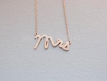 New Arrival Hot Sale 10 pcs lot Cute Simple Modern Adorable Tiny necklace Fsshion LOVE Mrs