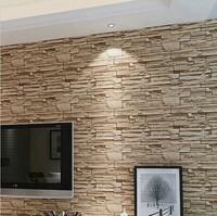 Modern 3D three-dimensional design wallpaper roll stone brick background wall vinyl wall paper living room wallcovering