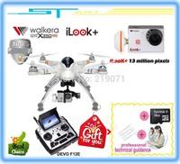 EMS Free Shipping Walkera Qr X350Pro Drone 6ch Brushless Devo F7 F12E Transmitter RC Quadcopter iLook+ Plus Camera FPV VS H500