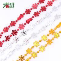 2.7 meters snowman style chain decoration christmas decoration color 50g