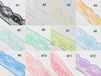 Wholesale New Embroidered Tulle Mesh Bridal Wide Lace Trim Trimming, 6CM 600Yards/12Roll Lace Fabric Sew-On Supplies For Garment