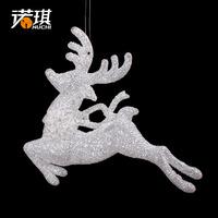 10*12cm acrylic diamond stone powder three-dimensional christmas elk christmas decoration 30g shuanglu