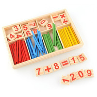 1Set Educational Toy Clours Spindles Wooden Counting Game Mathematics Material Toy Learning Math Toys Hot Sale AY871517