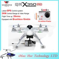 EMS Free Shipping Walkera Qr X350 Pro Drone 6ch Brushless Devo F7 F12E Transmitter RC Quadcopter iLook plus camera FPV VS H500