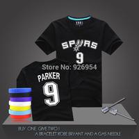 New Brand GDP Parker Duncan Ginobili Leonard Basketball T-Shirt Jersey Sports Spurs  Short-Sleeved Active Cotton Tee