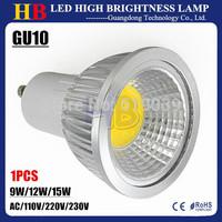 1X GU10 GU5.3 E27 E14 B22 Base 9W 12W 15W COB Dimmable LED Spotlight bulb White/Warm/Cool White AC/110V 220V 230V LED Lighting