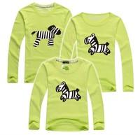 BIG SALE cartoon Horse kids t shirt long sleeve family tees baby+dad+mum parentage clothes brand PANYA QCX25