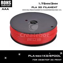 Red color jogos 1.75mm PLA 3d printer filament 3d printer parts for Createbot ,Makerbot, RepRap,etc impressora 3d