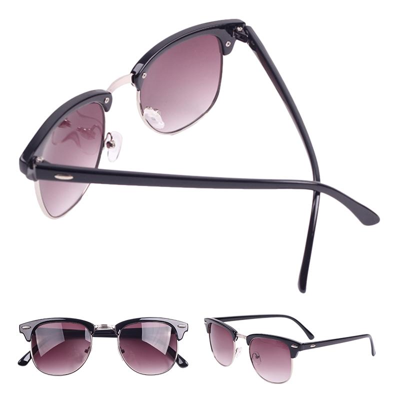 Retro Half Frame Clubmaster Wayfarer Classic Mirrored Sunglasses Shades Unisex ZMPJ007 30#C4(China (Mainland))