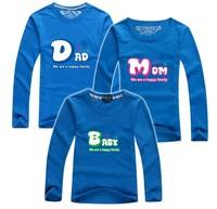 11.11 BIG SALE 1 piece retail family t shirt long sleeve home sets baby dad mum parent-child clothes brand PANYA QCX01