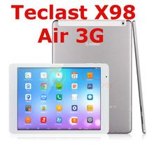 teclast x98 air 3g dual boot Android 4.4 / Windows 8.1 9.7 inch Retina Z3736F Quad Core 2GB+32GB WCDMA phone call GPS tablet pc(China (Mainland))