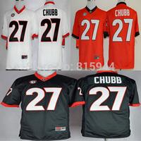 College Georgia Bulldogs #27 Nick Chubb ncaa football jerseys adult/ youth mix order free shipping