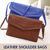 Free Shipping Leather Envelope Shoulder Bags Ladies small vintage summer Handbags, Messenger Bag 2014 designer satchels#DJW9