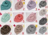 Free shipping by DHL 400pcs/lot Fashion Women Chevron Infinity Scarf  Color Block Chunk Circle Double Loop Scavers Wrap