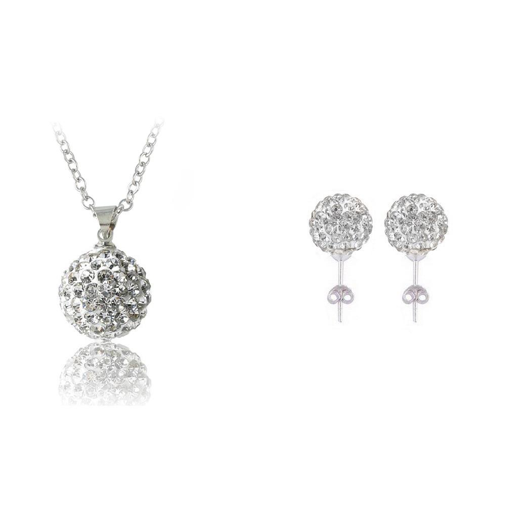2014 Christmas Super Deal 80% Off Shamballa Jewelry Set Pendant/ Earring Women Jewelry Set Wholesale JST0007mix1(China (Mainland))