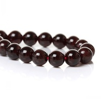 """Dorabeads (Grade A)Natural Garnet Loose Beads Round Dark Red About 8mm(3/8"""") Dia,39.5cm(15 4/8""""),1 Strand(approx 49PCs)"""