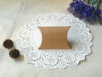 "Free Shipping 200pcs Small Wedding Gift Box  Baby Shower Party Favor Boxes  Kraft Pillow Box 8.5x6.5cm(3.3""x2.6"")"