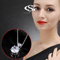 G&S Brand Christmas Gift Simple Crystal Necklace Jewelry Fashion Necklaces For Women 2014 Statement Necklace Free Shipping