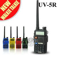 FS!BaoFeng UV-5R UV5R  Walkie Talkie Transceiver Dual Band Two Way Radio 136-174Mhz&400-520Mhz Interphone Free Earphone 2pcs/lot