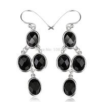 GNE1061 Fashion Genuine 925 Sterling Silver Earring Agate Drop Earrings For Women Party Silver Earrings Free shipping Wholesale