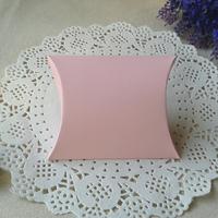 "Free Shipping 200pcs Matt Pink Pillow Box Wedding Favor Party Gift Paper Boxes Apparel Packaging 10x8.5cm(4""x3.3"")"