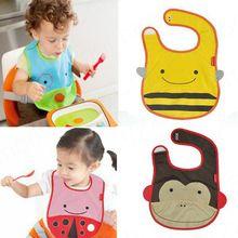 Baby Cute Zoo Bibs ZOO Story Waterproof baby bib Burp clothes 4 Style Hot Selling TZ072