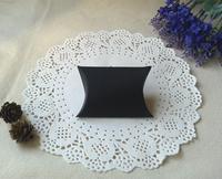 "Free Shipping 200pcs Small Black Matt Jewellery Gift Pillow Box Favor Boxes 8.5x6.5cm(3.3""x2.6"")"