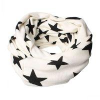 """Dorabeads Fashion Cotton Wrap Scarf Beautiful Long White Star Pattern Print 73cm x 26cm(28 6/8"""" x 10 2/8""""),1Pc"""