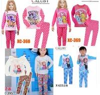 Girls Frozen Sister Pajamas Sets Pony Pajamas  Kids Autumn -Summer Clothing Set  New 2014 Children Casual Sleepwear