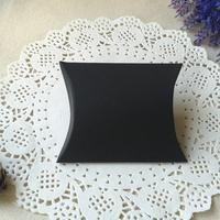 "Free Shipping 200pcs Matt Black Pillow Box Wedding Favor Party Gift Paper Boxes  10x8.5cm(4""x3.3"")"