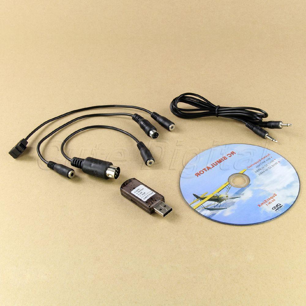 New Brand USB 4 in 1 Simulator RC XTR G4 Aerofly FMS Flight Simulator USB JR/Futaba/Esky/WFLY Transmitter Set(China (Mainland))