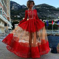 New sexy gauze dress dress burst OM242 in Europe and America party dress bandage long bodycon dress frozen dress elsa dress