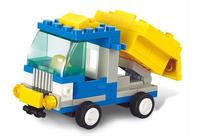 Without Origin Box Sluban Building blocks Set M38 - B0178 Sim city Q version of the truck Assembles toy
