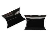 "200pcs Small Black Shinny Jewellery Gift Pillow Box Favor Boxes 8.5x6.5cm(3.3""x2.6"") Glossy Lamination"