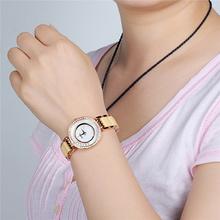 KIMIO New Analog Display Rhinestone Case Shell Dial Luxury Gold Fashion Lady Fashion Casual Watch Quartz