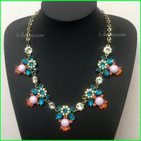NL00005 - 2014 New Fashion Elegant Flower Women Necklace Fashion Clothing Accessaries Vintage Gemstone Jewelry Free Shipping