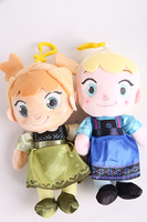 2014 New Frozen Anna Plush Doll 18cm Princess Doll Frozen Plush hunging ornament Toys in stock  for Girl free shipping
