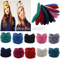 Fashion Crochet Bowknot Headband Knit Hairband Solid Bowknot Winter Women Ear Warmer Headwrap