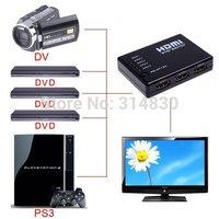 Mini 5 to 1 5 Ports HDMI Switch HMDI Switcher Amplifier Switcher Remote & 1080P HD Video Converter with Remote Control