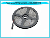 Waterproof 5M 24W 1200m 300x3528 SMD LED Strip Light (DC 12V )