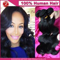 Peruvian virgin hair body wave style 3pcs Lot Unprocessed human hair weave mixed length 8-30natural black