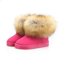 Hot Selling Imitation Fox Fur Antiskid Snow Boots Fur Boots Women Duantong Boots 36-40 Size