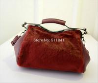 2014 autumn and winter imitation mink double clip women's handbag shoulder bag handbag bag cotton-padded jacket Free shipping