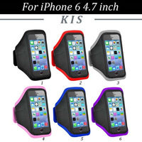 100pcs/lot Free Shipping Gym Workout Sport Armband Case Cover For iPhone 6 4.7 inch