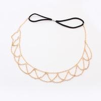 Gold Chain Hairband Hair accessories Crown Hair jewelry Headband Styling Tools Head Chain Head Jewelry  CF103