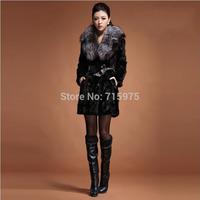 Fashion brand High quality mink Fox fur collar jackets women winter fur coats 2014 New designer mink coats for women