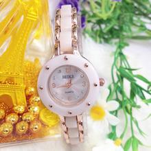 Fashion 2015 Hot Sale Jewelry Quartz Women diamond ceramic Strap 2 Colors Super Quality Bracelet watches