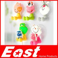 Life83 Free shipping Cute Cartoon sucker toothbrush holder suction hooks 5pcs/lot Home decoration