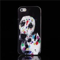 Hot items multi-colored dalmatian Photography TPU Soft back Cover for ipone 5 Case for iphone 5s IMD Craft phone cases wholesale